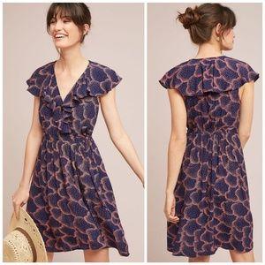 NWT, Anthropologie, Maeve Rosalia Wrap Navy Dress